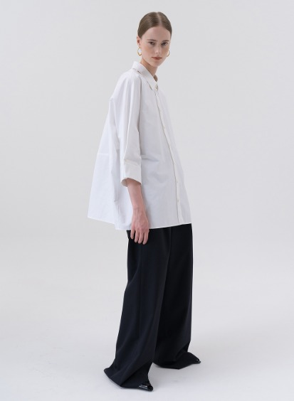 SS20 울 Wool Wide Pants Dark Navy