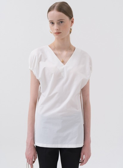SS20 Slim Fit Gather Blouse White