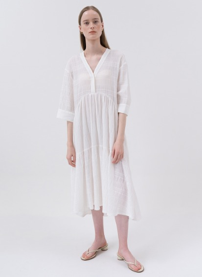 SS20 Voyage Flared Dress White