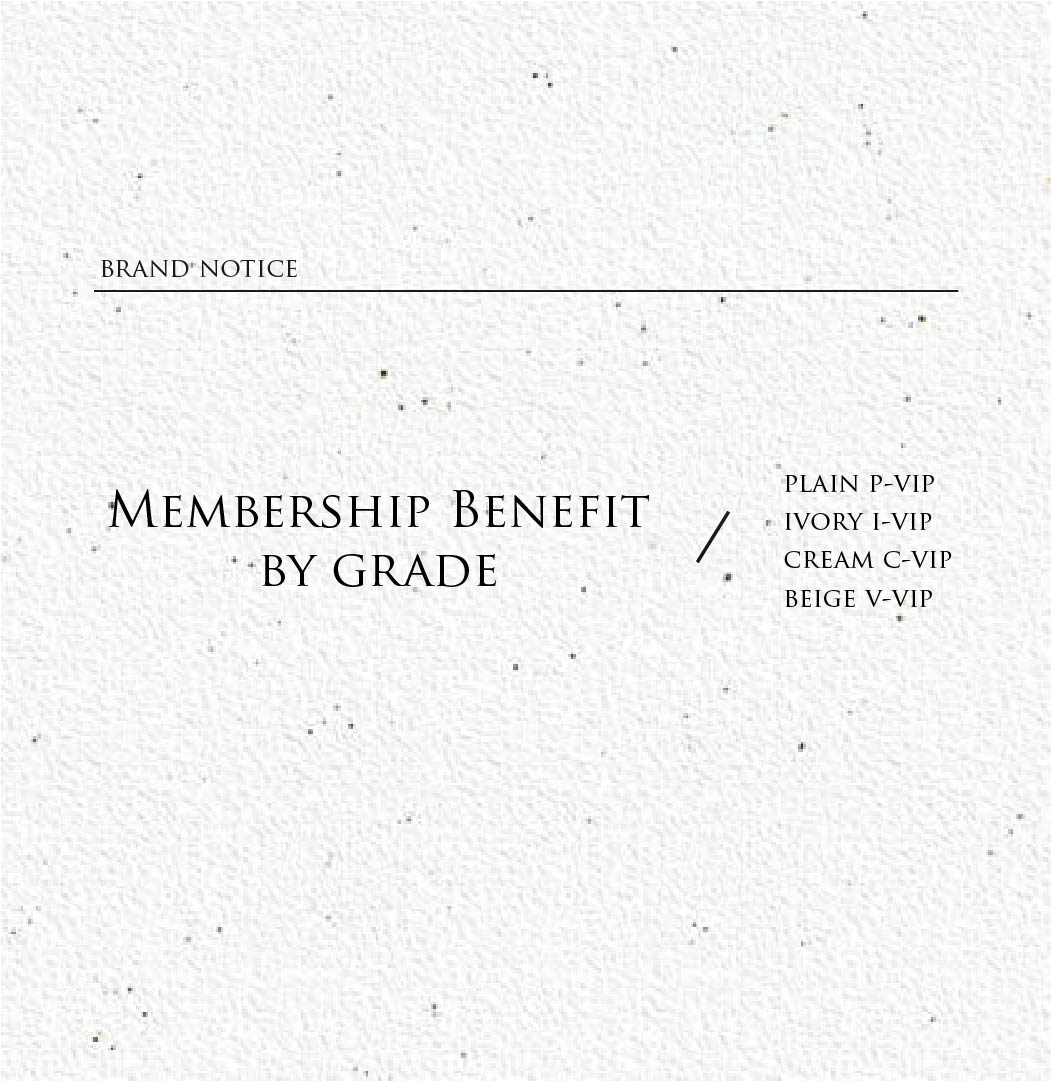 Membership Benefit by grade