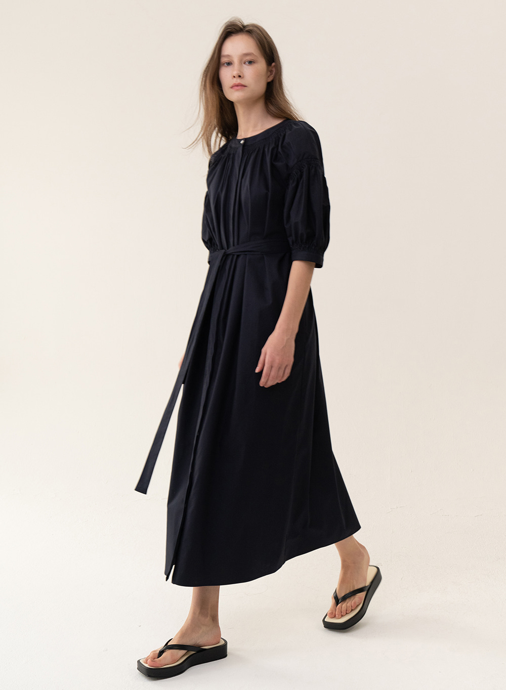 [ESSENTIAL] Original Balloon Dress Navy