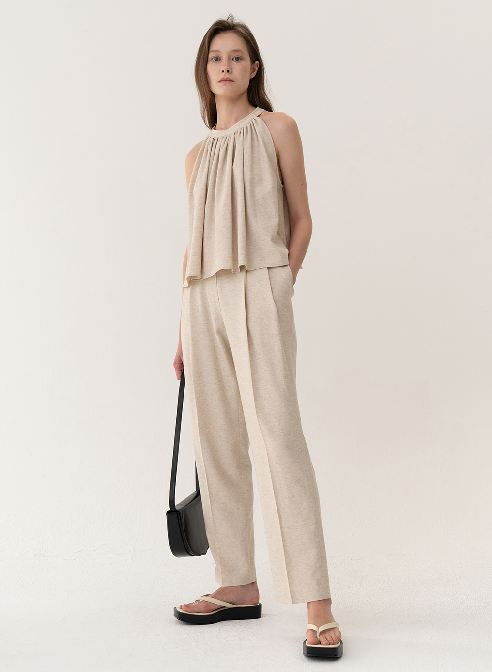 [ESSENTIAL] Soft Linen Pants Natural