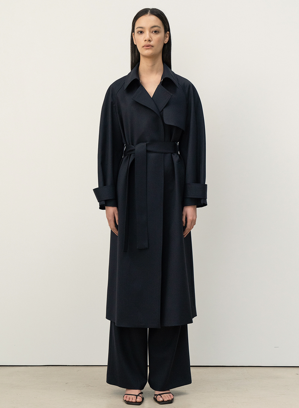 FW20 Simple Trench Coat Navy