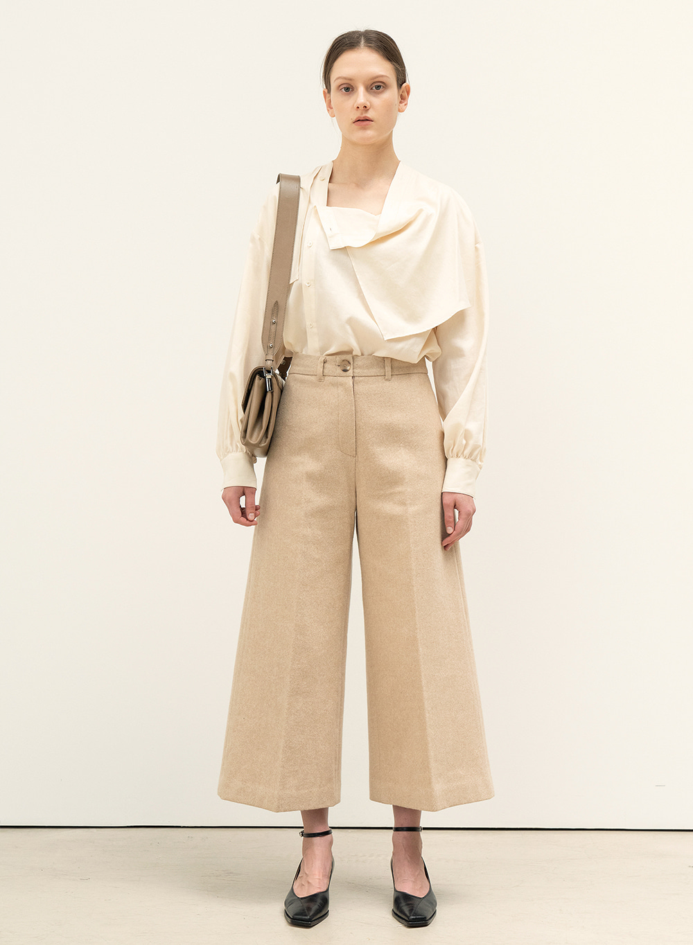 FW20 Crop Structured Pants Pale-Orange