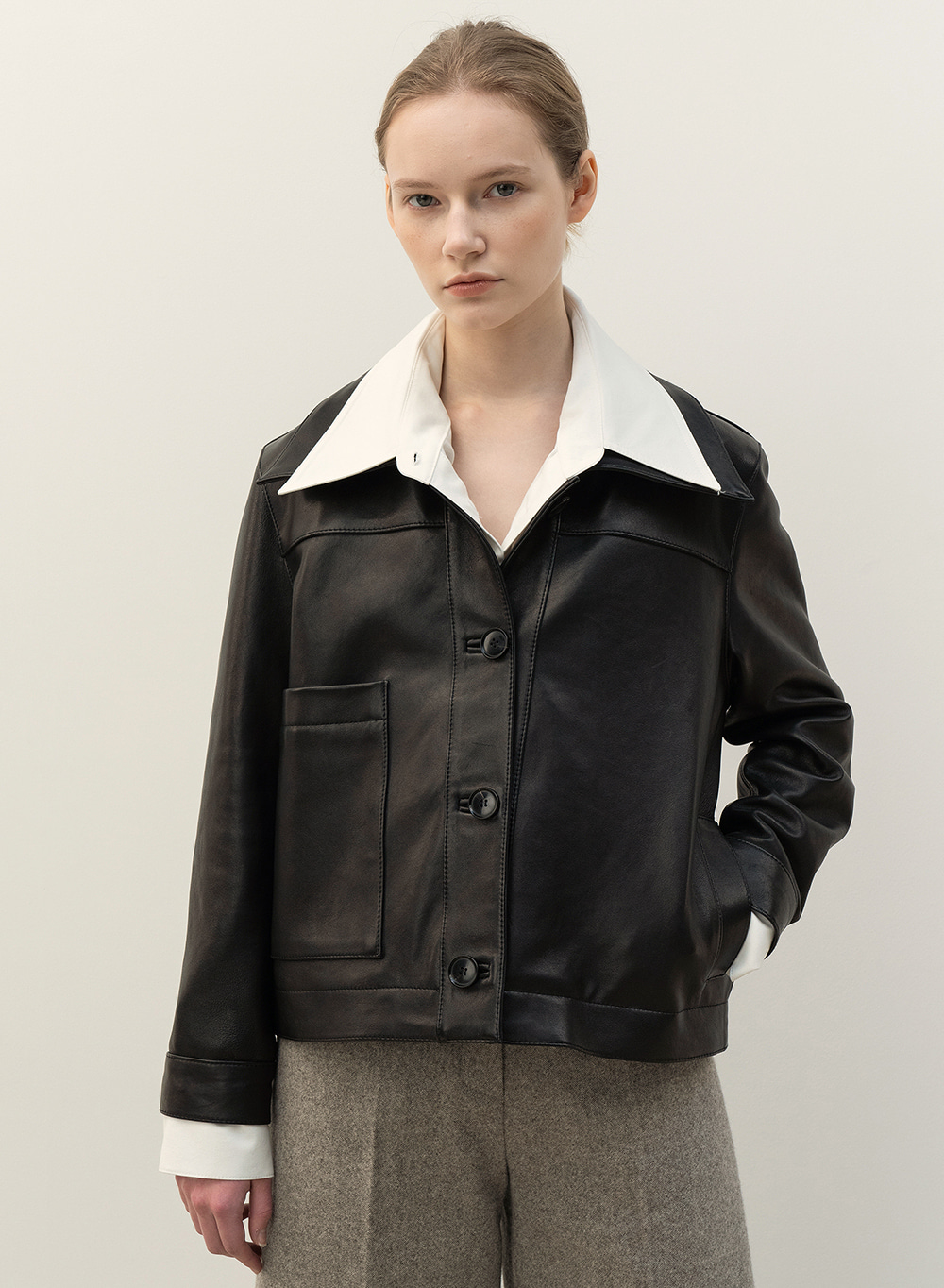 FW20 Soft Lambskin Jacket Black
