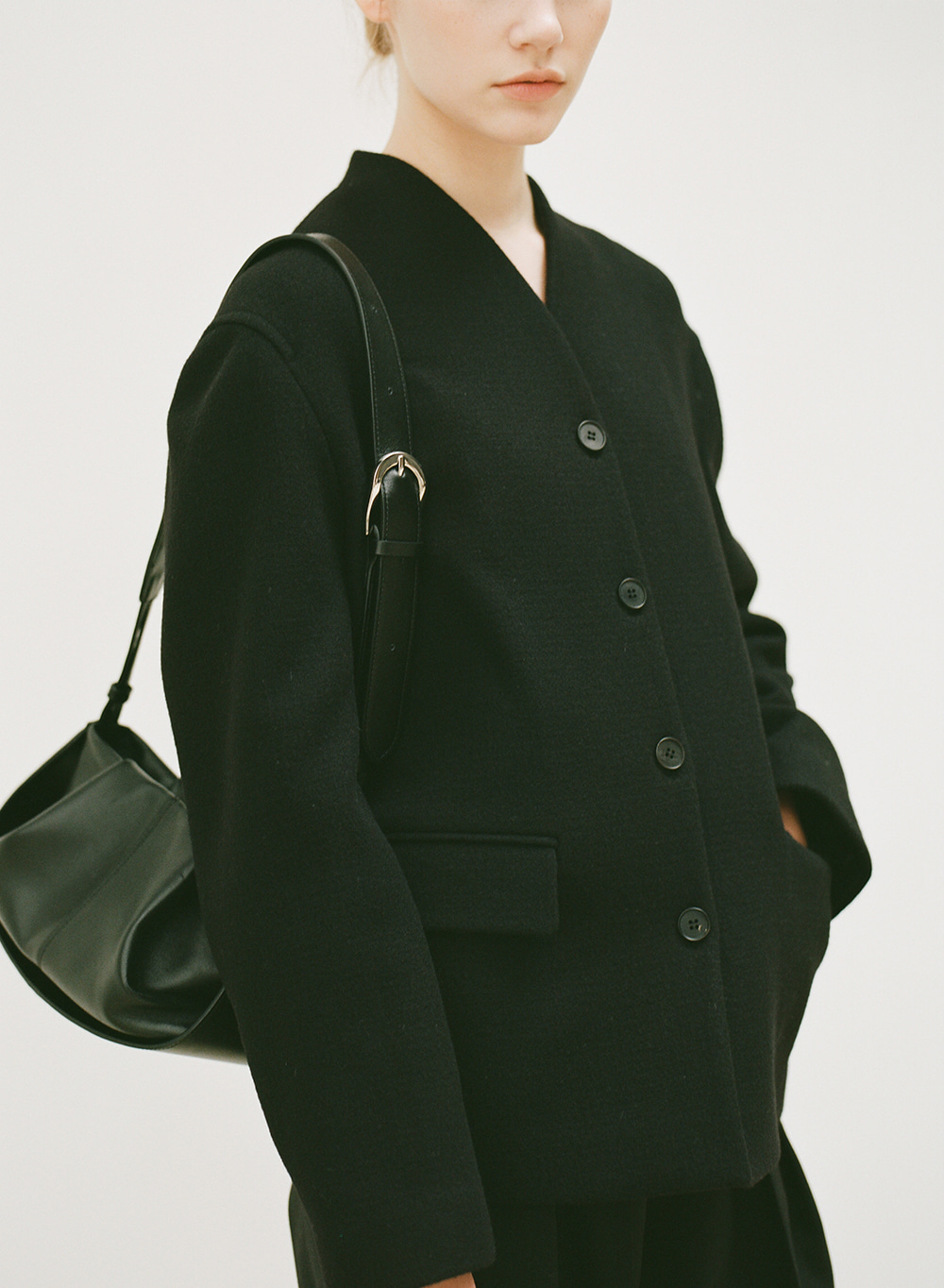 [9월15일 순차배송]FW20 Stand Collar Jacket Black