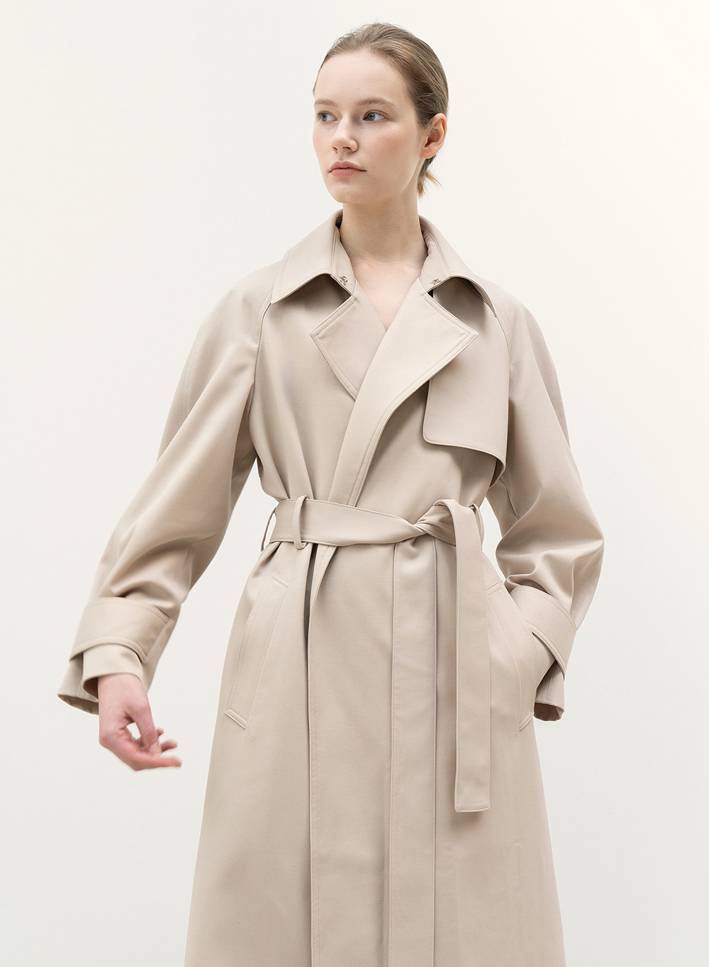 [9월25일 순차배송][FW20 Simple Trench Coat Hazelnut