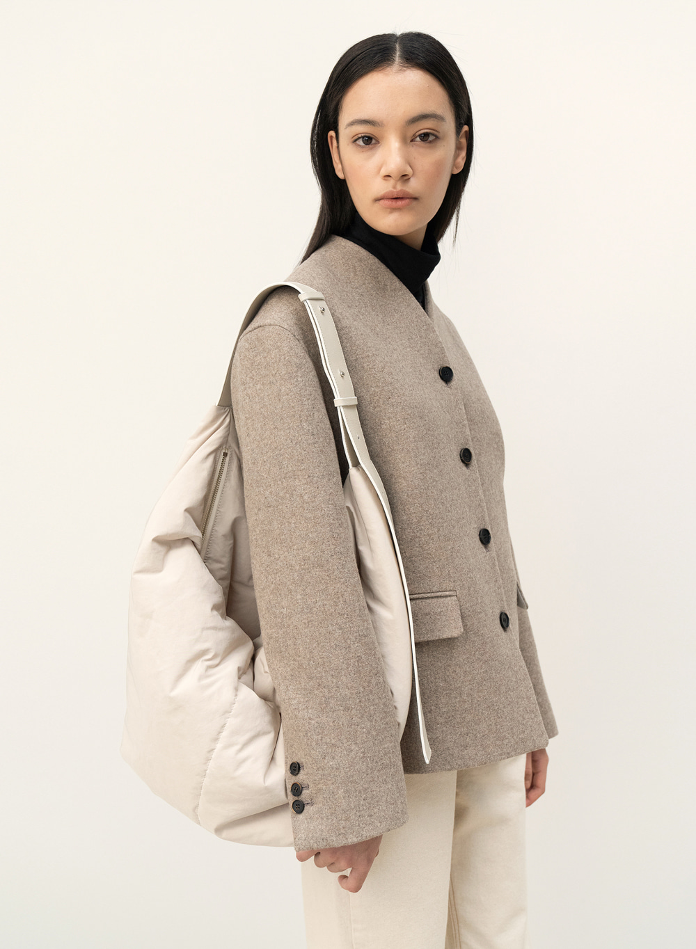 [9월29일 순차배송]FW20 Stand Collar Jacket Brown-Melange
